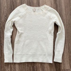 Cream J. Crew sweater
